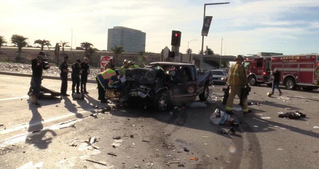 Driver of Chevy Silverado That Struck Anaheim Bus Arrested on