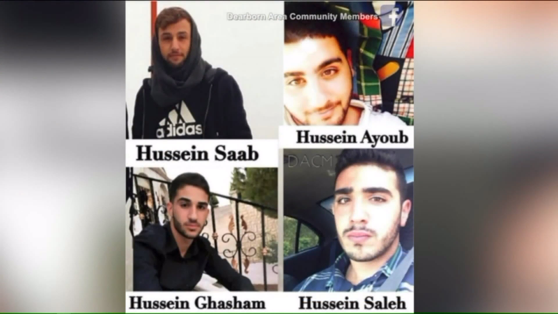 Hussein Saab, Hussein Ayoub, Hussein Ghasham and Hussein Saleh